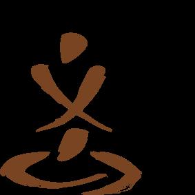 Représentation calligraphique de la pratique du shiatsu
