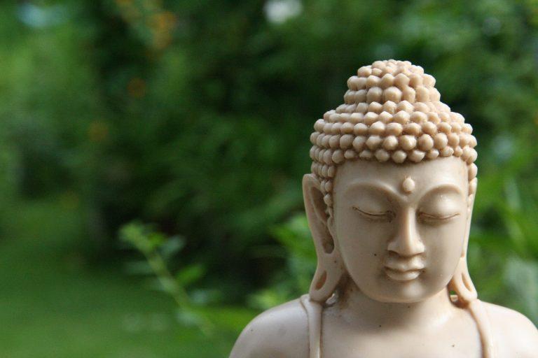 photo d'une statue de Bouddha dans la nature